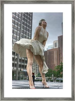 Forever Marilyn Framed Print by David Bearden