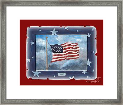 Forever Old Glory  Framed Print by Herb Strobino