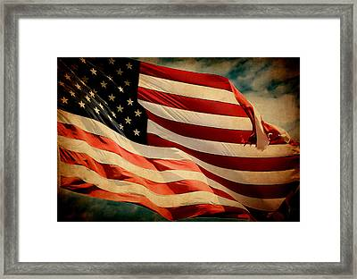 Forever Red White And Blue Framed Print by Athena Mckinzie