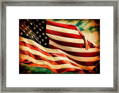 Forever Red White And Blue II Framed Print by Athena Mckinzie