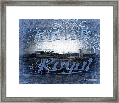 Forever Royal Framed Print by Andee Design