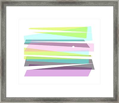 Forever Spring Abstract Art Framed Print by Ann Powell
