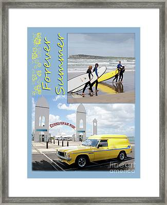 Forever Summer 6 Framed Print by Linda Lees