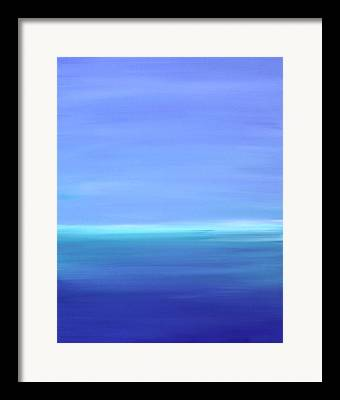 Turquoise Blue Framed Prints