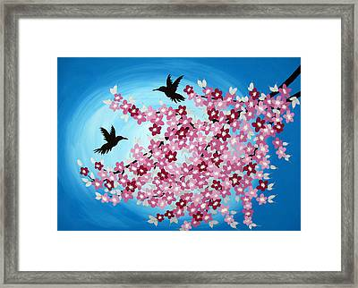 Forever Us Framed Print by Cathy Jacobs