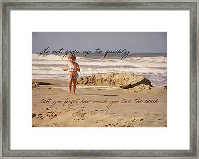 Forever Young Quote Framed Print by JAMART Photography