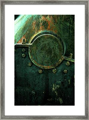 Forged In Green Framed Print