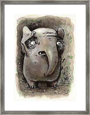 Forgetful Elephant Framed Print by Connor Reed Crank
