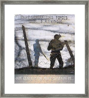 Forging Of Freedom Framed Print by Unknown