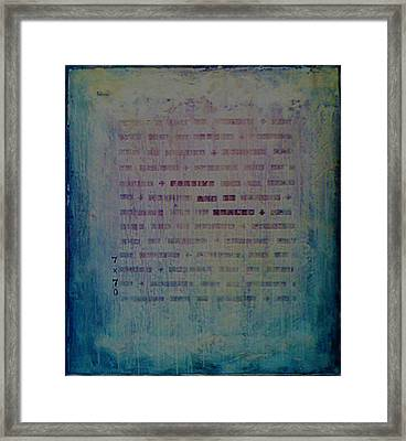 Forgive And Be Healed Framed Print by Laura Brightwood