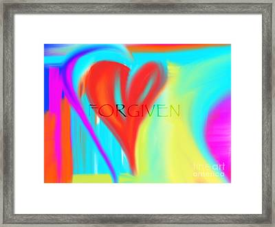 Forgiven Framed Print