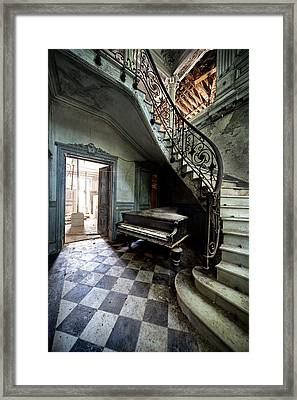 Forgotten Ancient Piano - Urban Exploration Framed Print