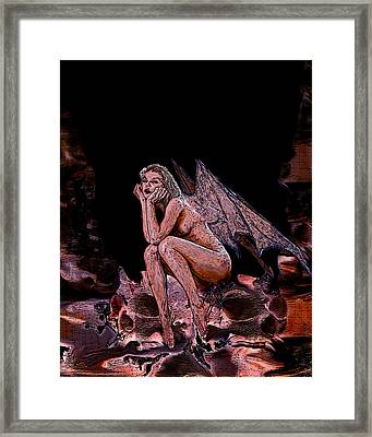 Forgotten Angel Framed Print by Tbone Oliver