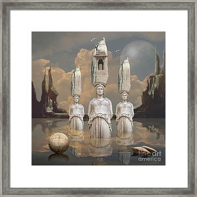 Framed Print featuring the digital art Forgotten Atlantis by Alexa Szlavics