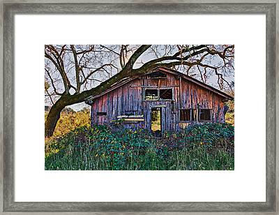Forgotten Barn Framed Print by Garry Gay