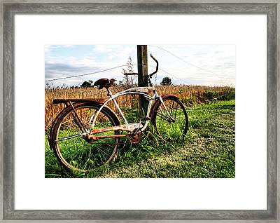 Forgotten Bicycle Framed Print by Doug Hockman Photography