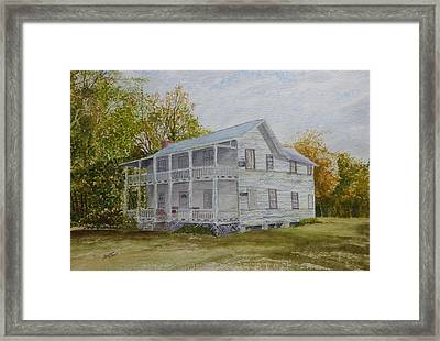 Framed Print featuring the painting Forgotten By Time by Joel Deutsch