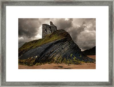 Forgotten Castle In Ballybunion Framed Print