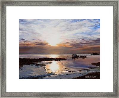 Framed Print featuring the painting Forgotten Coast by Rick McKinney