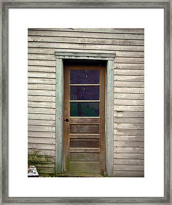 Forgotten Door Framed Print by Douglas Barnett