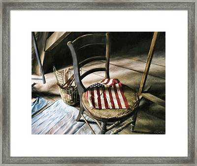 Forgotten Flag Framed Print by Peter Chilelli