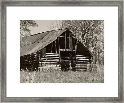 Forgotten Hay Barn Framed Print