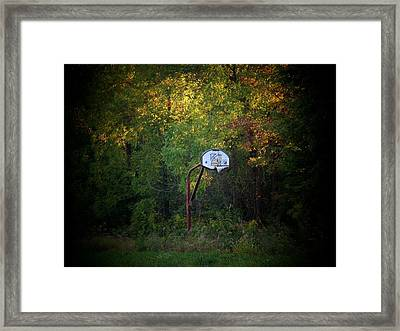 Forgotten Hoop Framed Print by Michael L Kimble