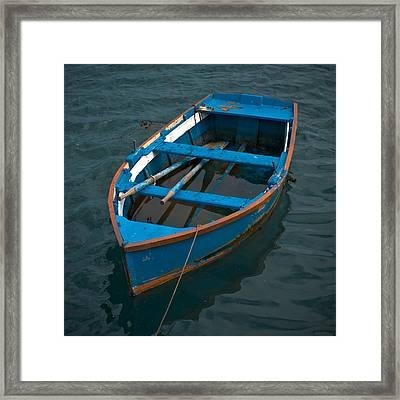 Forgotten Little Blue Boat Framed Print