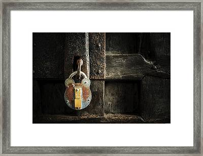 Forgotten Lock Framed Print
