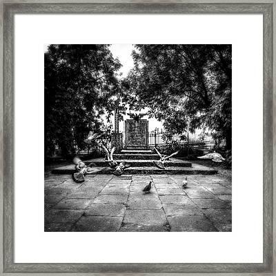 Framed Print featuring the photograph Forgotten Monument by Jaroslaw Grudzinski