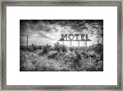 Framed Print featuring the photograph Forgotten Motel Sign by Spencer McDonald