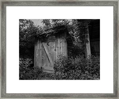 Forgotten Outhouse Framed Print by Denise McKay