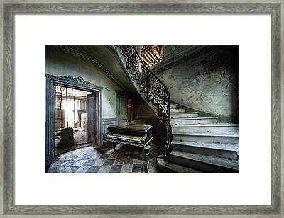 The Sound Of Decay - Abandoned Piano Framed Print by Dirk Ercken