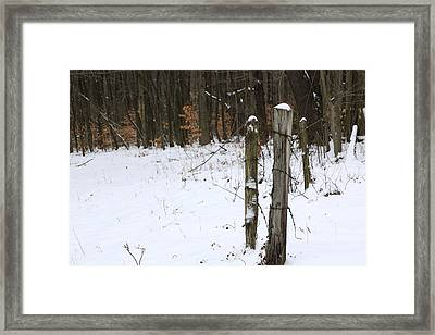 Forgotten Posts Framed Print