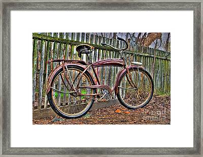 Framed Print featuring the photograph Forgotten Ride 1 by Jim and Emily Bush
