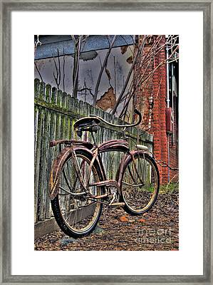 Framed Print featuring the photograph Forgotten Ride 2 by Jim and Emily Bush
