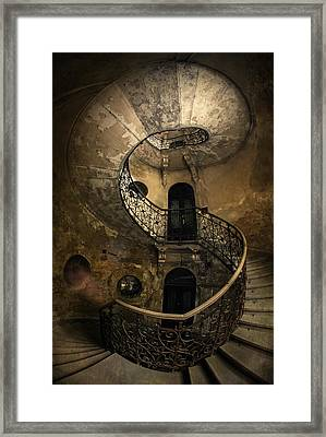 Forgotten Staircase Framed Print