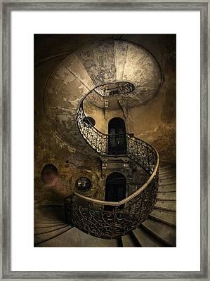 Forgotten Staircase Framed Print by Jaroslaw Blaminsky