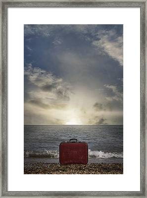 Forgotten Suitcase Framed Print