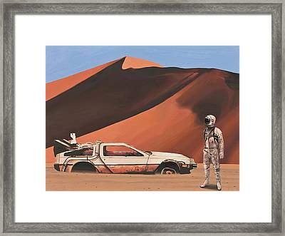 Forgotten Time Machine Framed Print by Scott Listfield