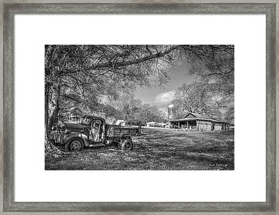 Forgotten Times Georgia Farm Scene Art Framed Print