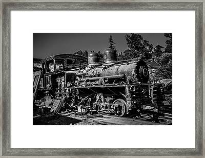 Forgotten Train Black And White Framed Print by Garry Gay