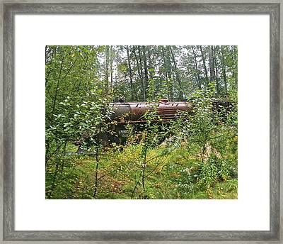 Forgotten Train Engine Framed Print by Robert Joseph
