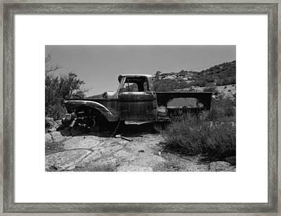Forgotten Truck Framed Print by Mallory Harben