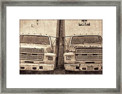 Forgotten Trucks Framed Print