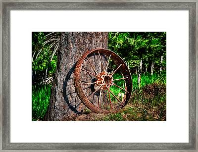 Forgotten Wheel Framed Print