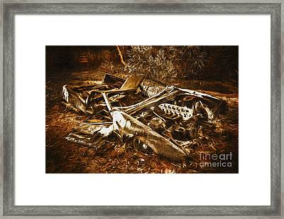 Forgotten Wheels Of Yesterday Framed Print