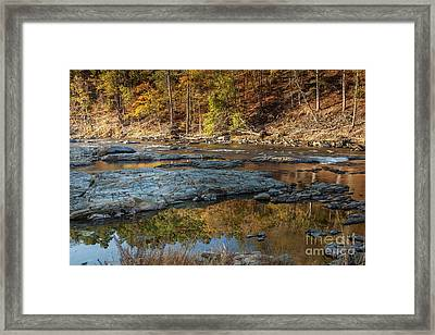 Framed Print featuring the photograph Fork River Reflection In Fall by Iris Greenwell