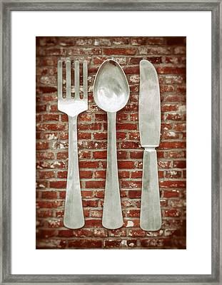 Fork Spoon Knife Framed Print by Wim Lanclus