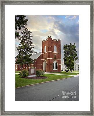 Fork Union Military Academy Wicker Chapel Sized For Blanket Framed Print